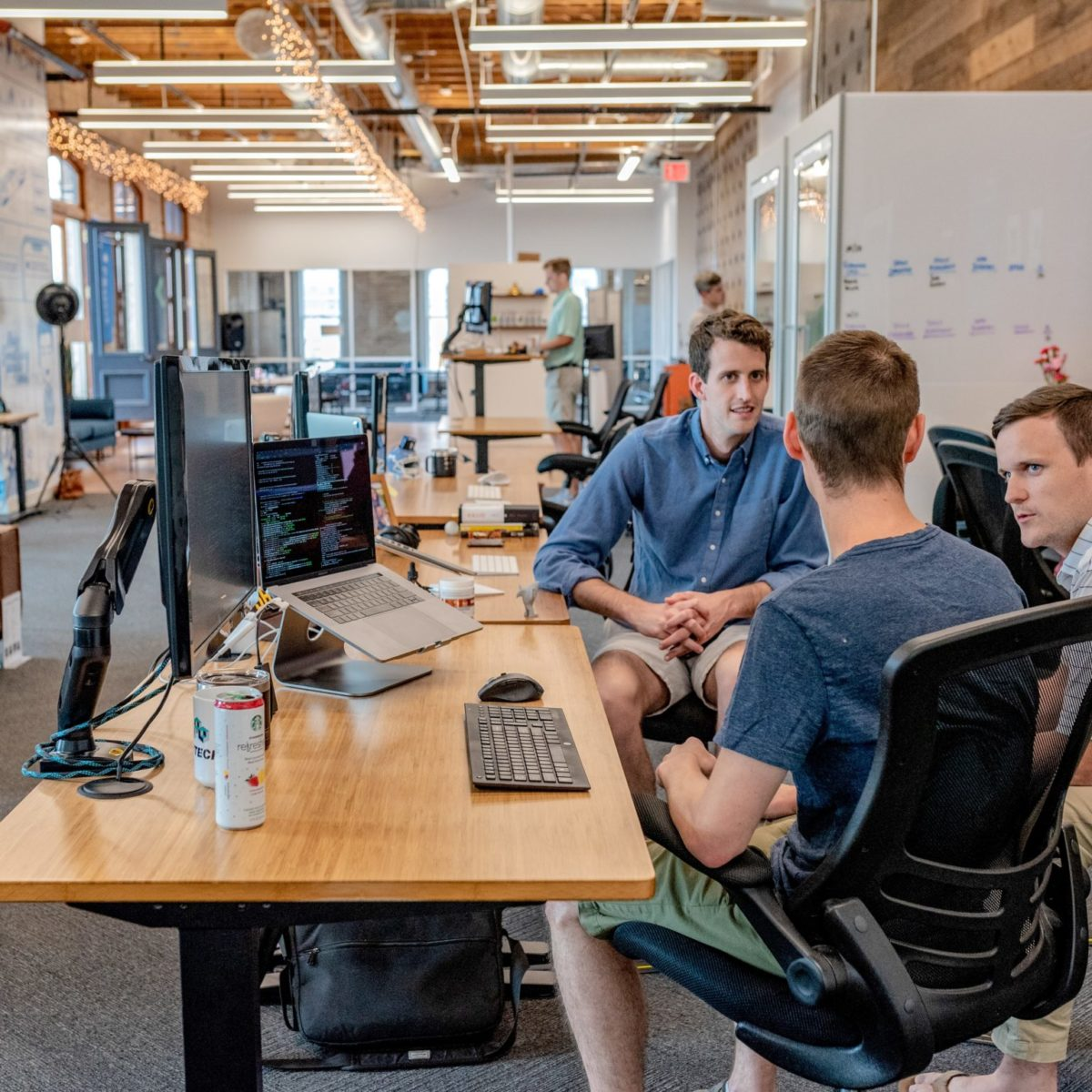 A team working together in the office